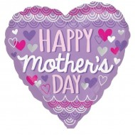 Happy Mother's Day Purple Scalloped Balloon