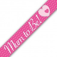 Mum To Be Pink Baby Shower Banner
