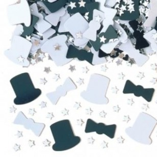 Night on the Town Top Hat Table Confetti