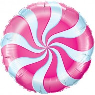 Pink Candy Swirl Willy Wonka Balloon