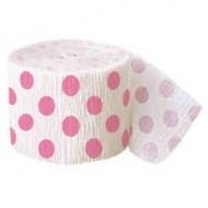 Pink Dots Crepe Birthday Party Baby Shower Streamer