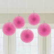 Pink Hanging Fans x5