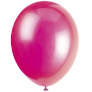 Fuchsia Hot Pink Latex Balloons x10