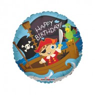 Cute Pirate Happy Birthday Balloon