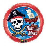 Pirate Happy Birthday Mate Balloon