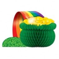 Irish Leprechaun Pot of Gold Table Centrepiece