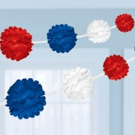 Patriotic USA Best of British Fluffy Paper Garland
