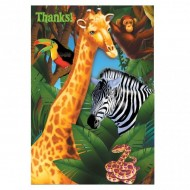 Safari Jungle Party Birthday Thank You Cards