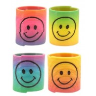 Smiley Face Rainbow Spring Party Favour x 6