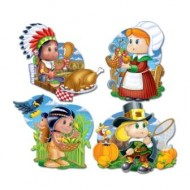 Thanksgiving Pilgrim & Indian Cutouts