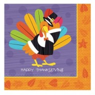 Happy Thanksgiving Fun Turkey Paper Napkin