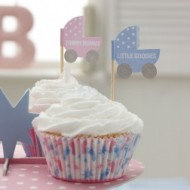 Tiny Feet Baby Shower Cupcake / Canape Picks