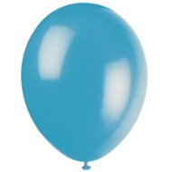 Turquoise Teal Latex Balloons x10