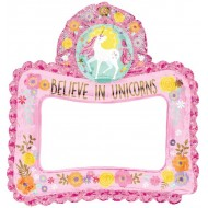 Magical Unicorn Inflatable Birthday Photo Frame Balloon