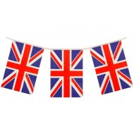 Best of British Union Jack Square Flag Plastic Bunting