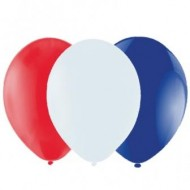 Red White & Blue Latex Balloons
