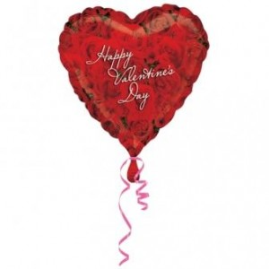 Happy Valentine's Day Rose Balloon