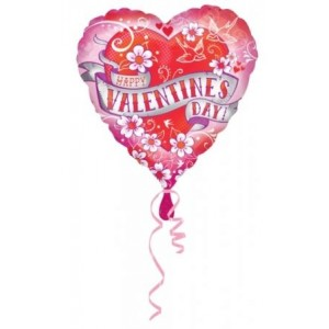Happy Valentine's Day Tattoo Balloon