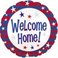Welcome Home Stars & Stripes USA Balloon