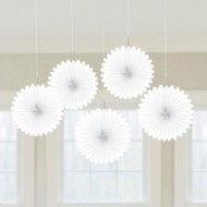 White Hanging Fans x5
